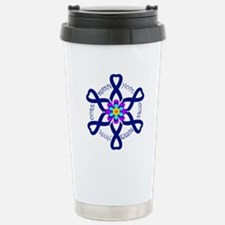 Behcets Hope Cure Circle of Ribbons Travel Mug