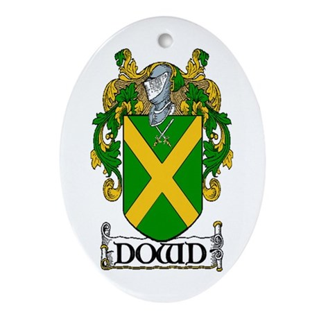 Dowd Coat of Arms Oval Ornament