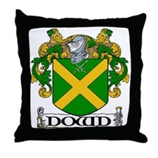 Dowd Coat of Arms Throw Pillow