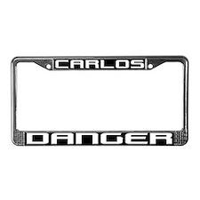 CARLOS DANGER License Plate Frame