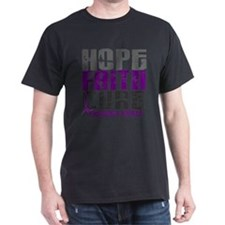 HOPE FAITH CURE Pancreatic Cancer T-Shirt