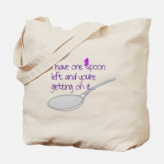 One Spoon Left Tote Bag