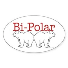 Bi-Polar Oval Decal
