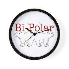 Bi-Polar Wall Clock