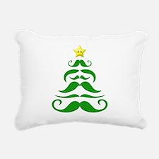 Merry Mustache Tree Rectangular Canvas Pillow