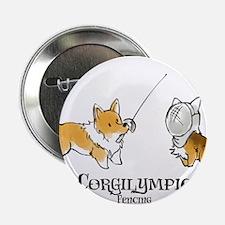 "Corgilympics - Fencing 2.25"" Button"