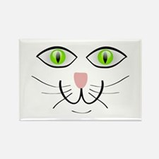 Green-Eyed Cat Face Rectangle Magnet