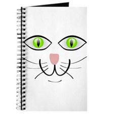 Green-Eyed Cat Face Journal