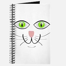 Green-Eyed Cat Face Journal