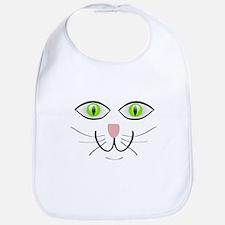 Green-Eyed Cat Face Bib
