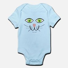 Green-Eyed Cat Face Body Suit