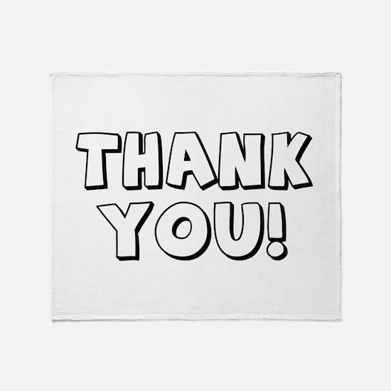 Thank You Throw Blanket