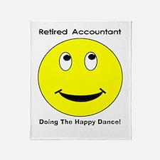 Retired Accountant happy dance Throw Blanket