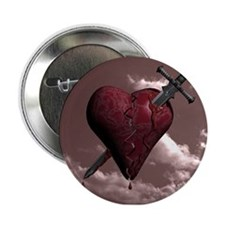 """HEARTBREAKER 2.25"""" Button"""