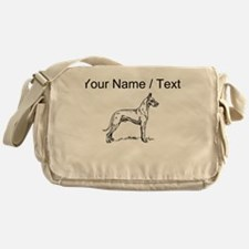 Custom Great Dane Sketch Messenger Bag