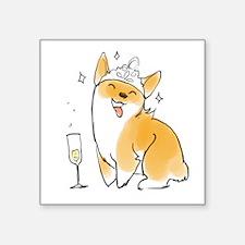 Champagne Corgi Sticker