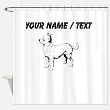Custom Chihuahua Sketch Shower Curtain