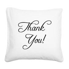 Thank You Square Canvas Pillow