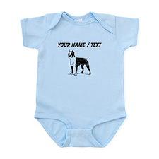Custom Boston Terrier Sketch Body Suit