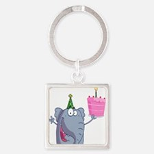 funny happy birthday elephant cartoon Keychains