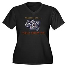 RPG, D&D, Gamer Dice Women's Plus Size V-Neck Dark