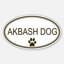 Oval Akbash Dog Oval Decal