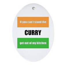 Cooking with Curry Oval Ornament