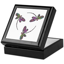 Neon Dragonfly Trinity Keepsake Box