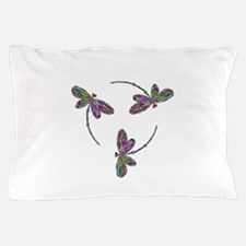 Neon Dragonfly Trinity Pillow Case
