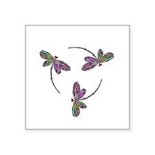 Neon Dragonfly Trinity Sticker