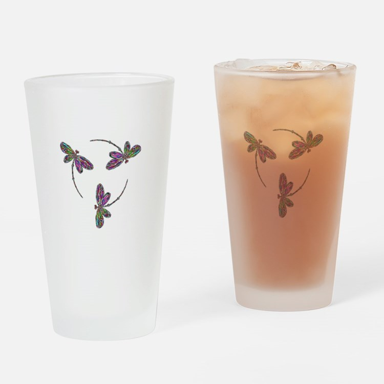 Neon Dragonfly Trinity Drinking Glass