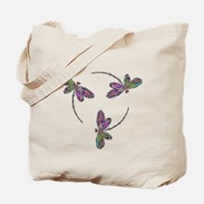 Neon Dragonfly Trinity Tote Bag