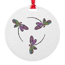 Neon Dragonfly Trinity Ornament