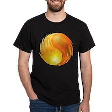 Elemental Fire - Yin Yang - Balance - Flames T-Shi