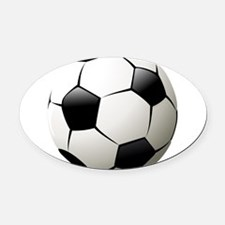 Soccer - Football - Sports - Athlete Oval Car Magn