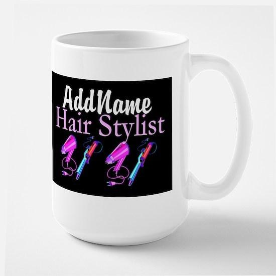 SNAZZY HAIR STYLIST Large Mug