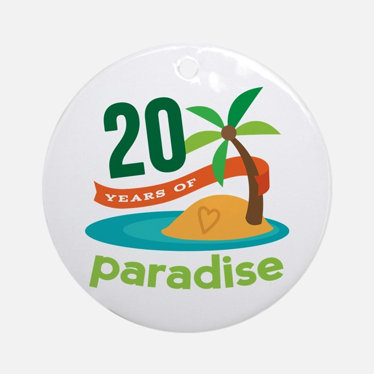 20th Anniversary Paradise Ornament (Round)
