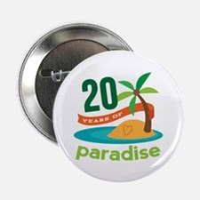 """20th Anniversary Paradise 2.25"""" Button (10 pack)"""