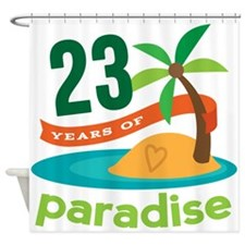 23rd Anniversary Paradise Shower Curtain