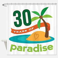 30th Anniversary (Paradise) Shower Curtain