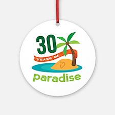 30th Anniversary (Paradise) Ornament (Round)