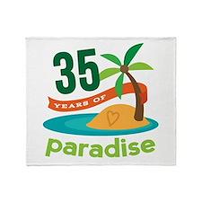 35th Anniversary (Tropical) Throw Blanket