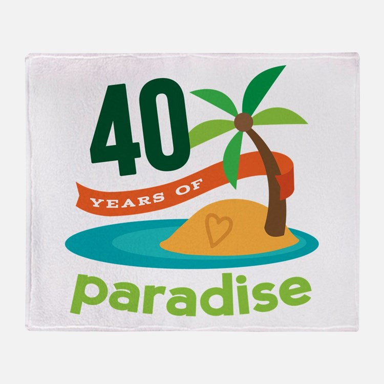 40th Anniversary (Tropical) Throw Blanket