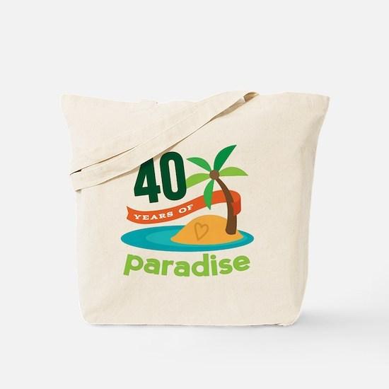 40th Anniversary (Tropical) Tote Bag