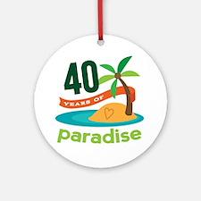 40th Anniversary (Tropical) Ornament (Round)