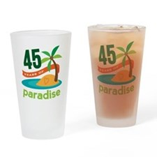 45th Anniversary (tropical) Drinking Glass