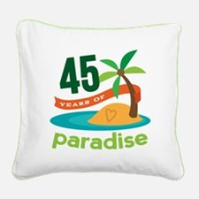 45th Anniversary (tropical) Square Canvas Pillow