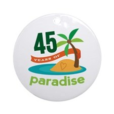 45th Anniversary (tropical) Ornament (Round)