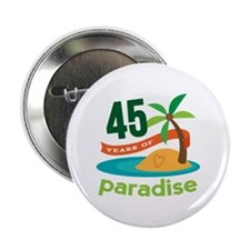 "45th Anniversary (tropical) 2.25"" Button (10 pack)"