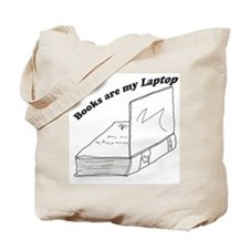 Funny Books and laptop Tote Bag
